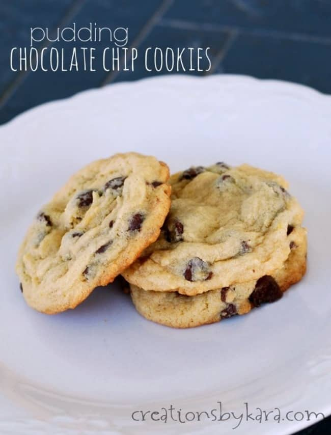 Pudding Chocolate Chip Cookies from Creations by Kara