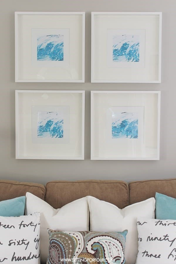 Simple DIY Abstract Watercolor Art from Setting for Four