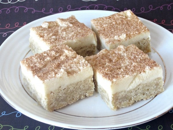 Snickerdoodle-Cookie-Dough-Bars-from Love to Be in the Kitchen