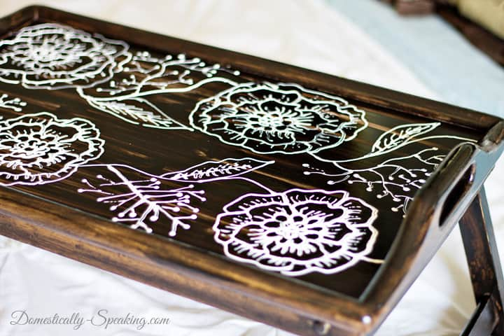 Thrift Store TV Tray Makeover 7