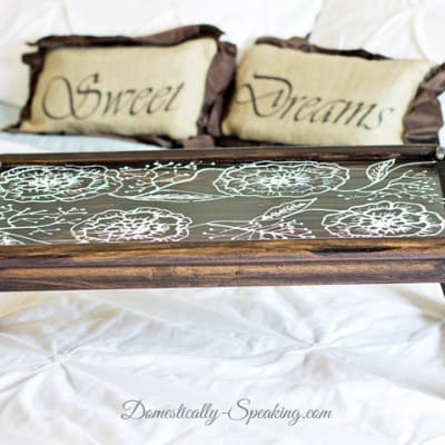 TV Tray Makeover… National Thrift Store Day Blog Hop