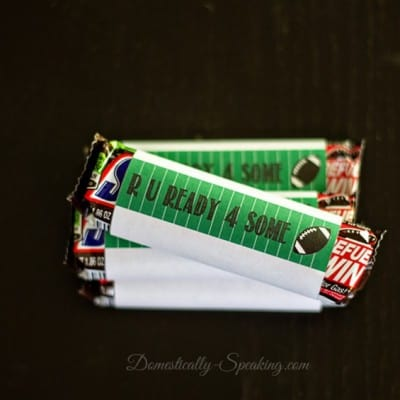 Football Candy Bars Wrapper Printable