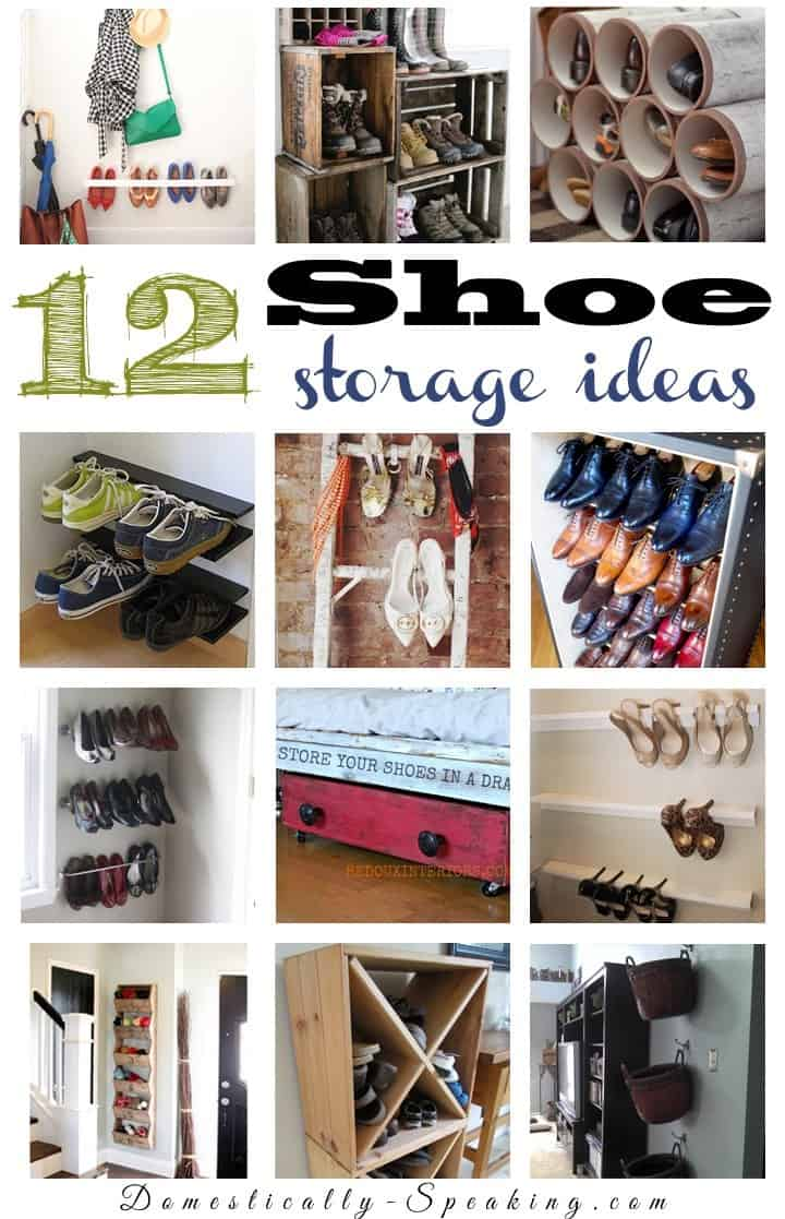 entryway closet storage ideas - 12 Shoe Organization Ideas Domestically Speaking
