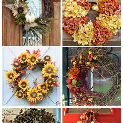 6 Gorgeous Fall Wreaths… Friday Features