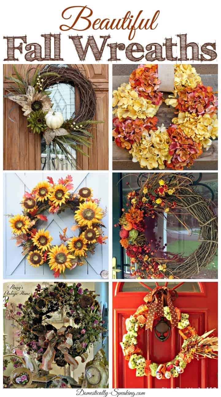 6 Beautiful Fall Wreaths you can make!