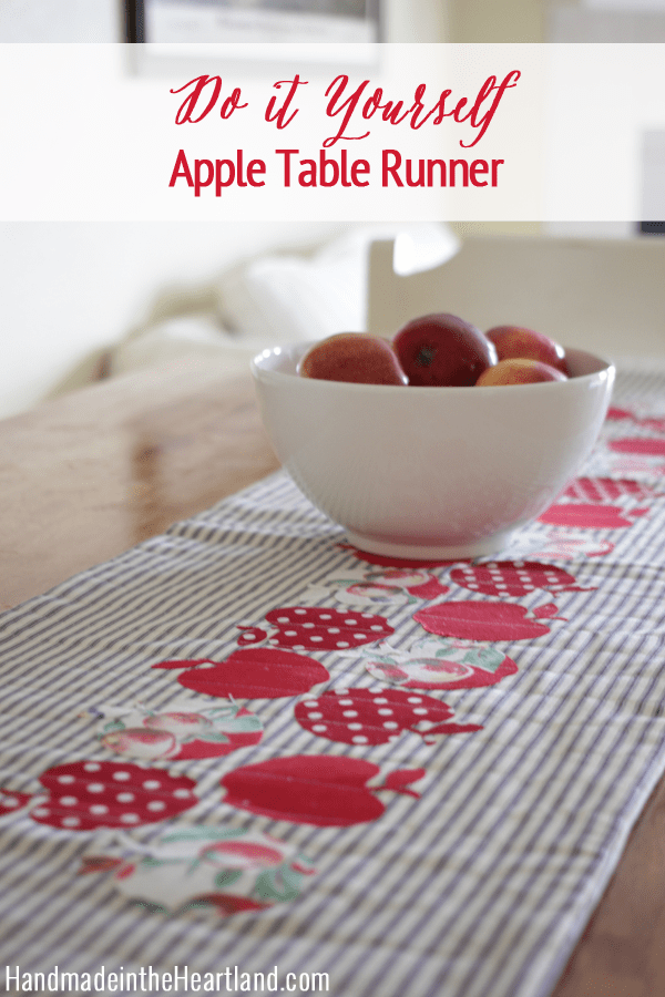 Apple Table Runner from Handmade in the Heartland