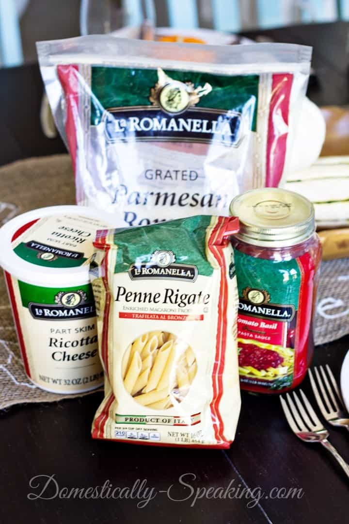 Baked Penne Pasta supplies for your recipe
