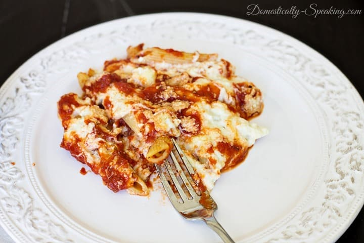 A favorite pasta dish baked in the oven Baked Penne Rigate