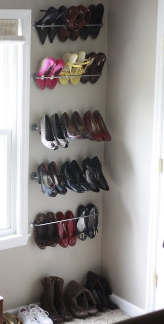 Bar Shoe Storage Organization from Eisenhart