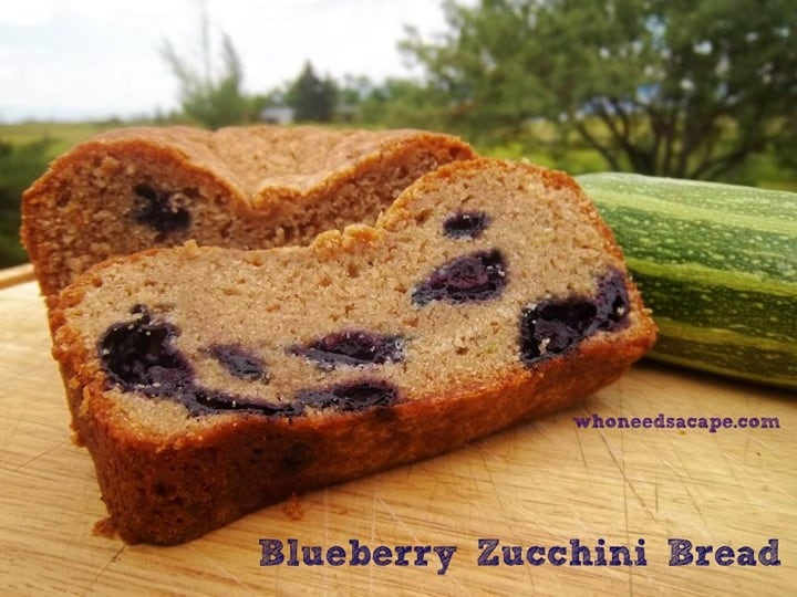 Blueberry Zucchini Bread from Who Needs a Cape