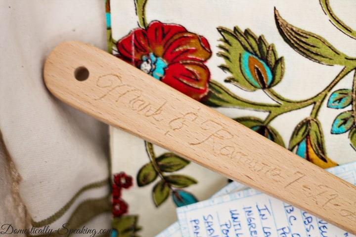 Custom Engraved Wooden Spoon Wedding Gift 2