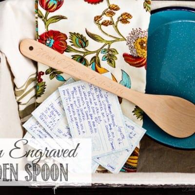Custom Engraved Wooden Spoon Wedding Gift