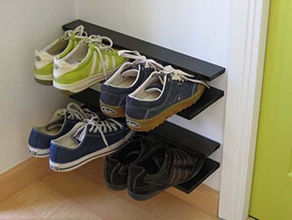 DIY Shoe Rack from Not Martha