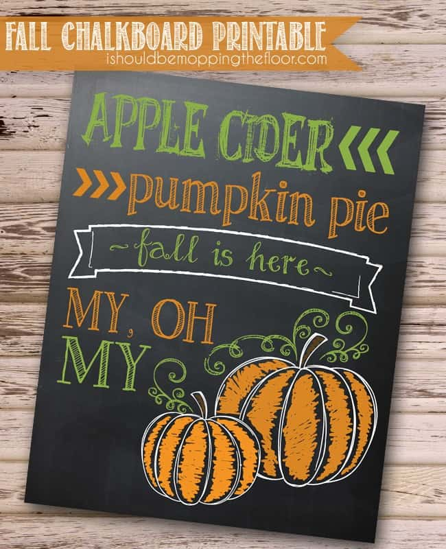 Fall Pumpkin Printable from I Should Be Mopping the Floor