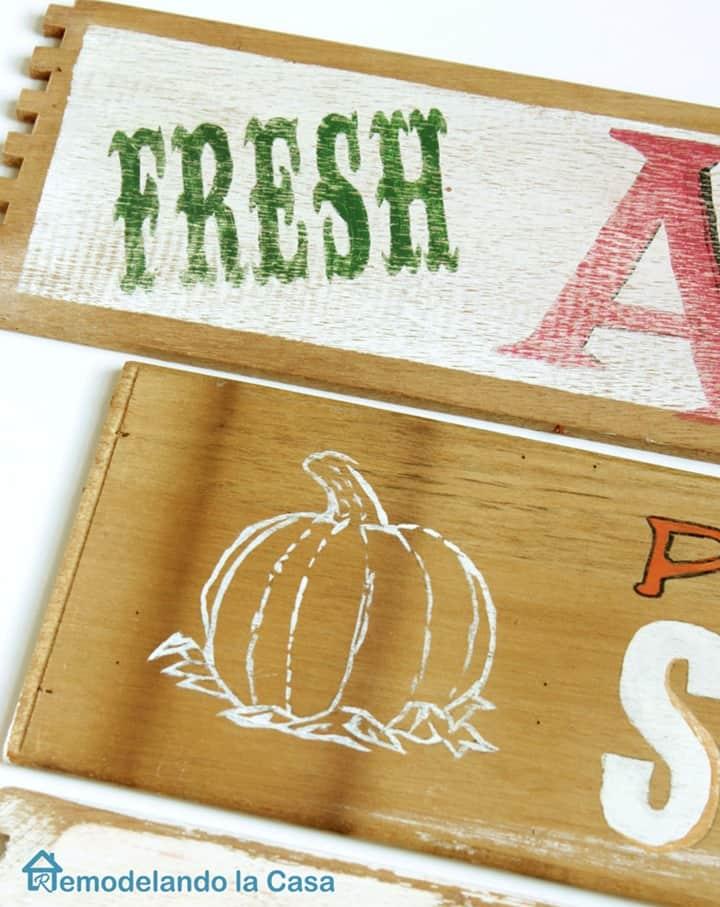 Fall Signs - Fresh Apples - Pumpkin from Remodelando la Casa