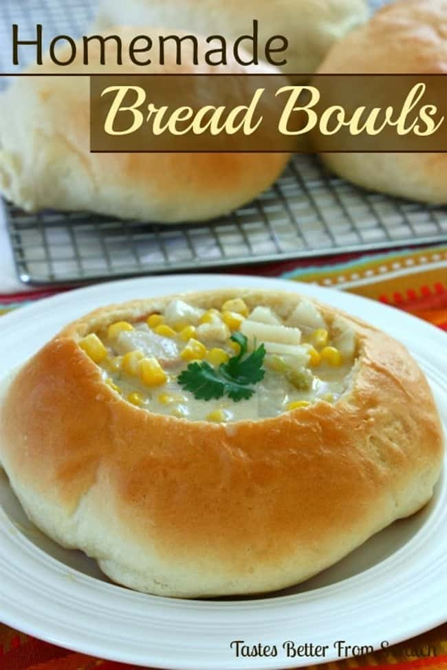 Homemade Bread Bowls from Tastes Better from Scratch