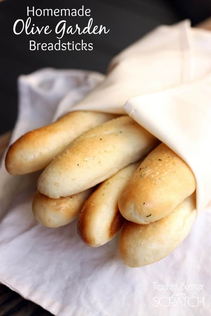 Homemade Olive Garden Breadsticks from Tastes Better from Scratch