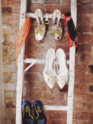 Ladder Shoe Storage from The Nest
