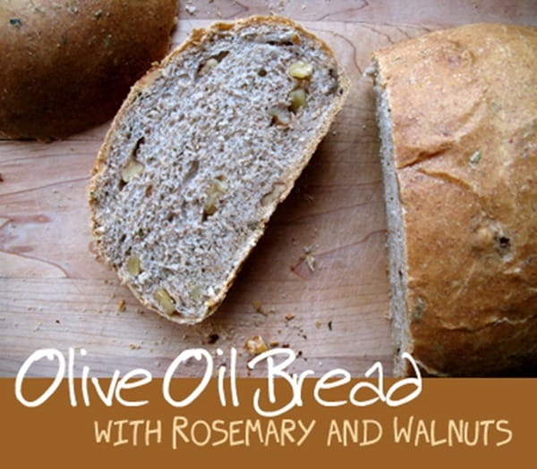 Olive Oil Bread with Rosemary and Walnuts