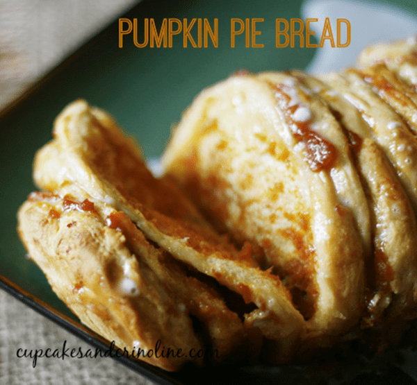 Pumpkin Pie Pull Apart Bread from Cupcakes and Crinoline