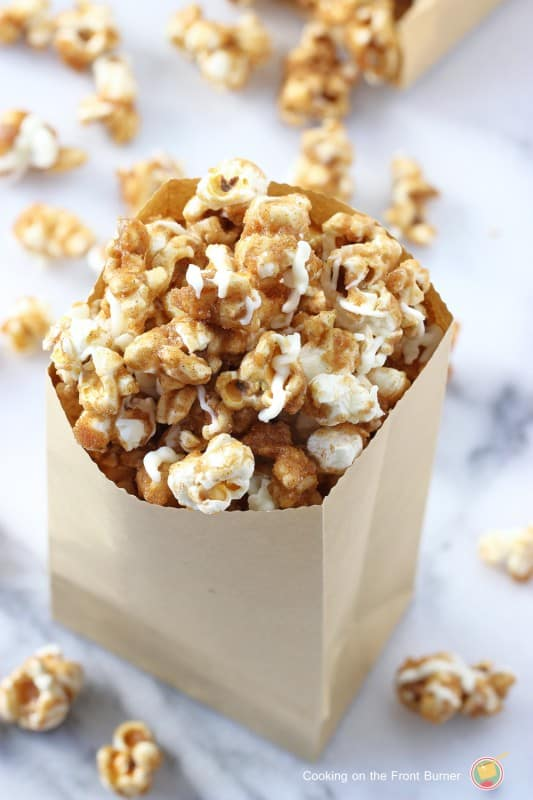 Pumpkin Spice Popcorn from Cooking on the Front Burner