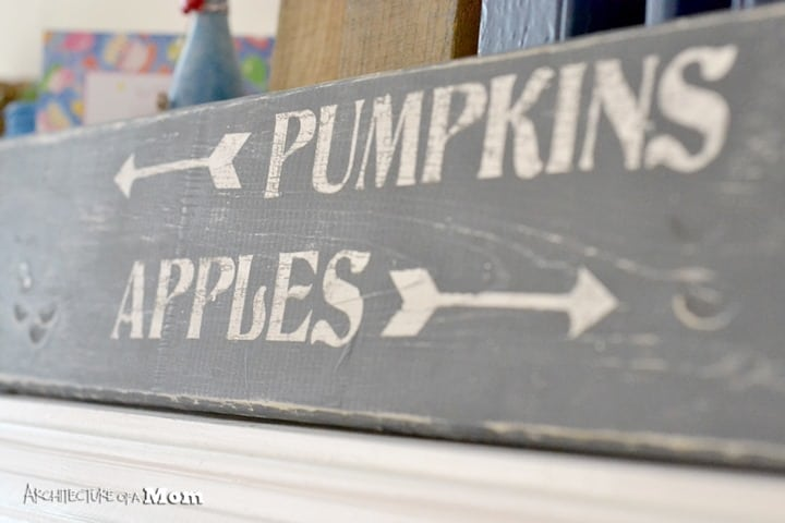 Pumpkin and Apples Sign from Architecture of a Mom