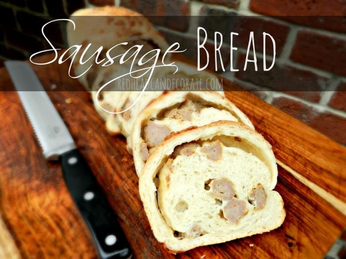 Sausage Bread from Redhead Can Decorate