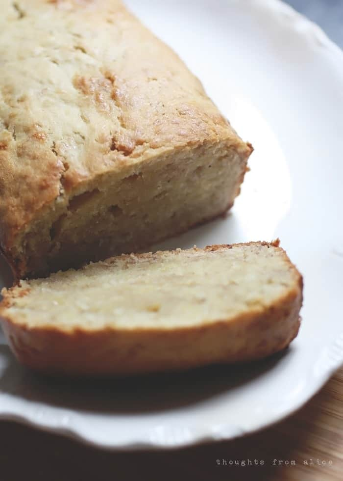 Simple Banana Bread without Baking Soda from Thoughts from Alice