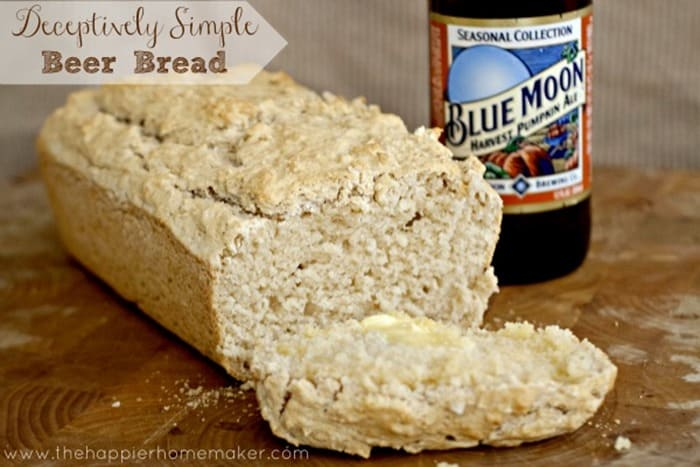 Simple Beer Bread from The Happier Homemaker