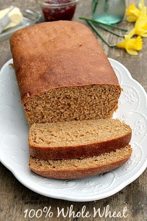 Soft Whole Wheat Bread from Bunnys Warm Oven