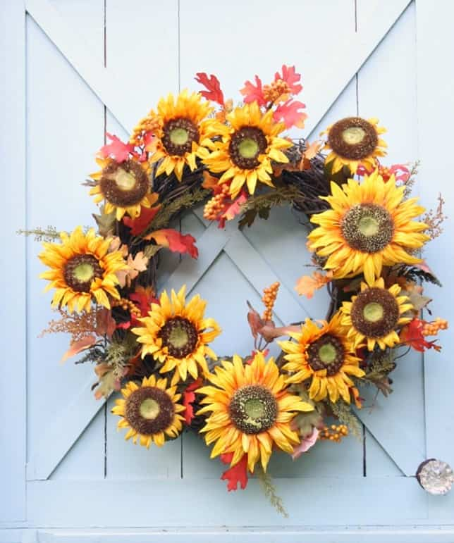 Sunflower Fall Wreath from Daisy Mae Belle