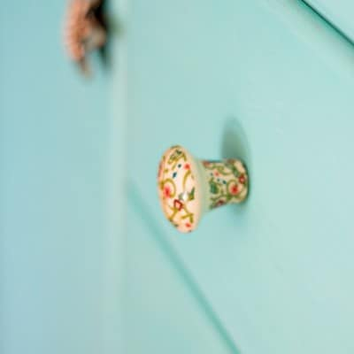Turquoise Painted Dresser Makeover