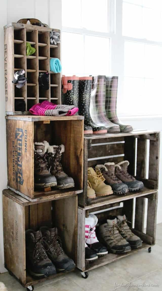 Vintage Crate Boot Storage from Finding Home Online