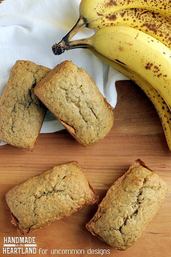 Whole Wheat Banana Bread from Uncommon Designs