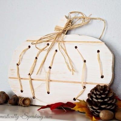 Wood Pumpkin with Raffia… Autumn Abounds