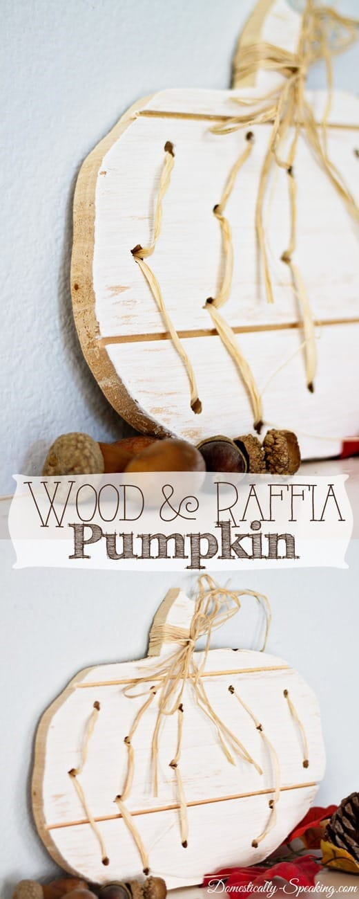 Wood and Raffia Pumpkin... such cute to make for Fall!