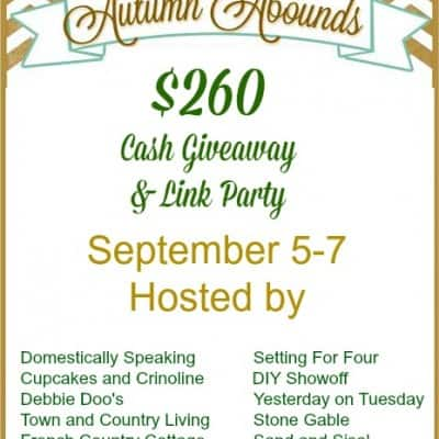 Autumn Abounds Linky Party and $260 Cash Giveaway