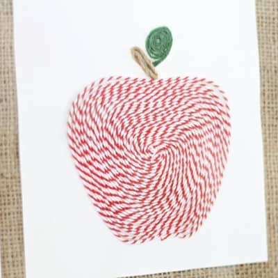 Baker's Twine Apple Art