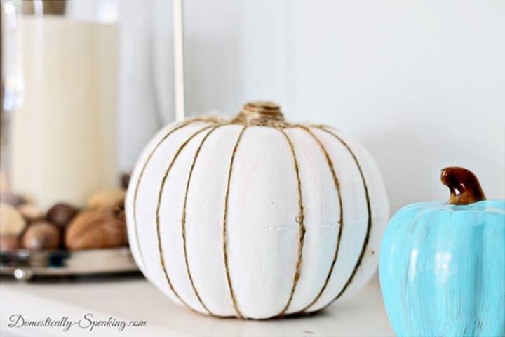 white twine pumpkin 1