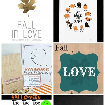 6 Fall Printables… Feature Friday
