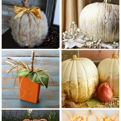 6 Faux Pumpkins… Feature Friday