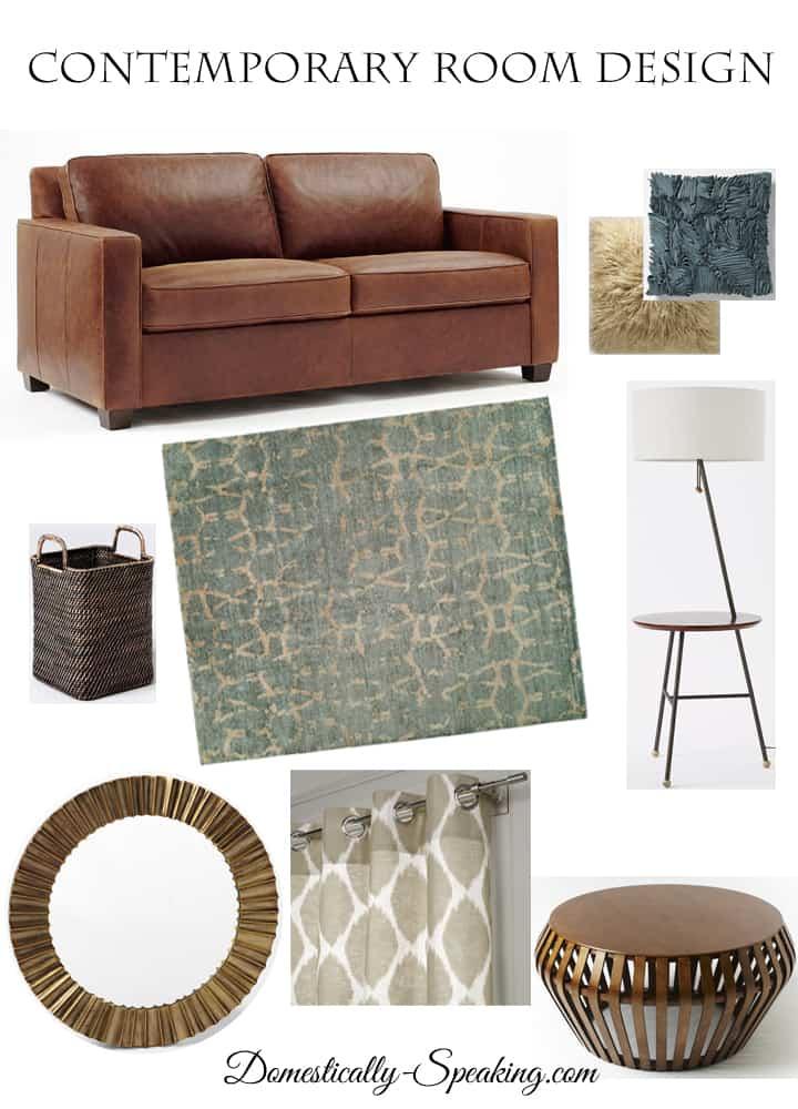 Contemporary Room Mood Board Design