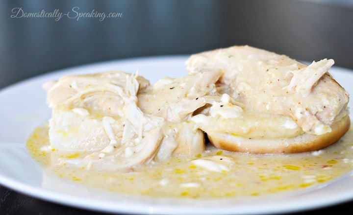 Creamy Italian Chicken in the Crockpot 5