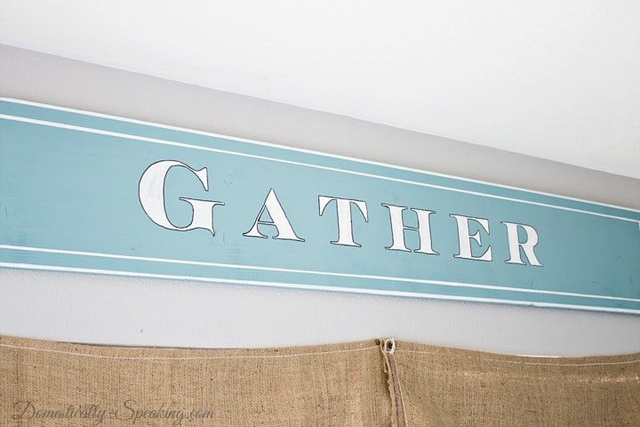 DIY Painted Gather Wood Sign 13