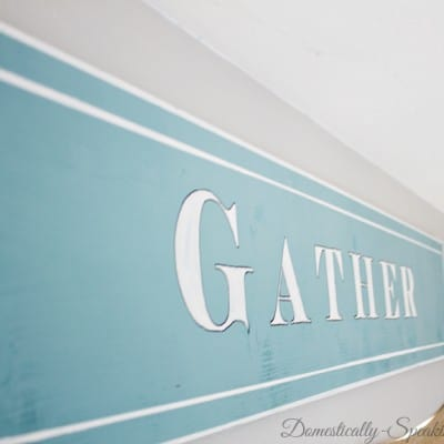DIY Gather Wood Painted Sign