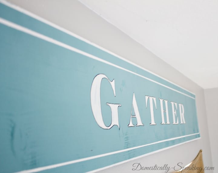 DIY Painted Gather Wood Sign 14