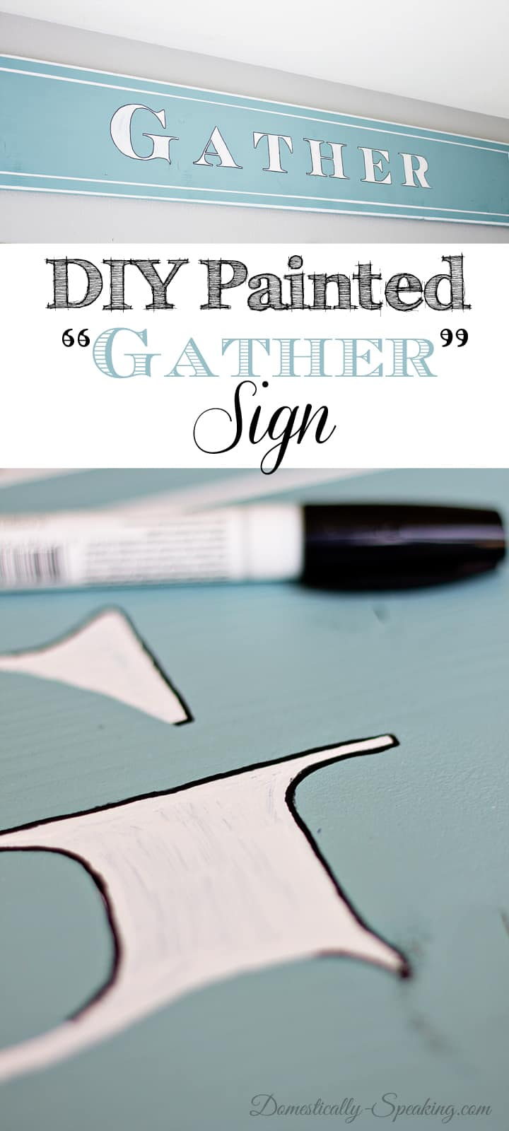 DIY Painted Gather Wood Sign 15