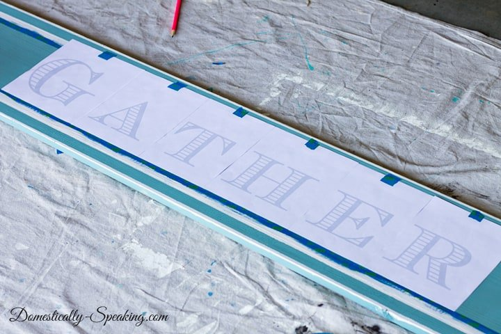 DIY Painted Gather Wood Sign 8