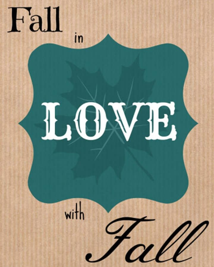 Fall in Love with Fall Printable