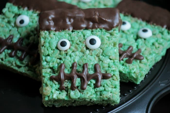 FrankensteinRiceKrispieTreats from Big Bears Wife